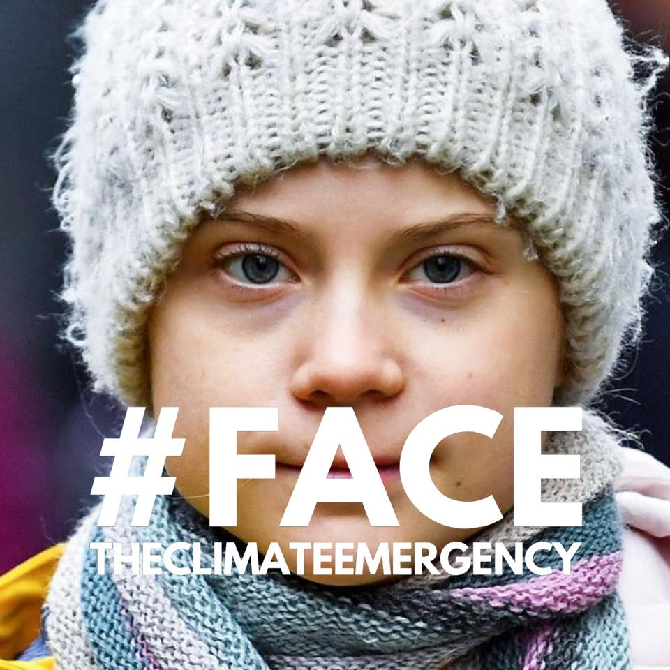 greta face the climate emergency